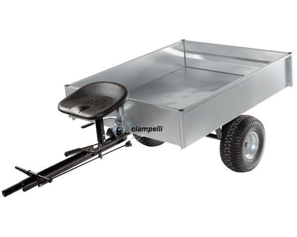 carrello rimorchio trainato per motocoltivatori bcs