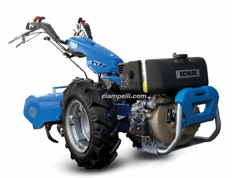 Motocoltivatore BCS 750 PowerSafe DIESEL Kohler KD440 11 hp avviamento elettrico + fresa 85L