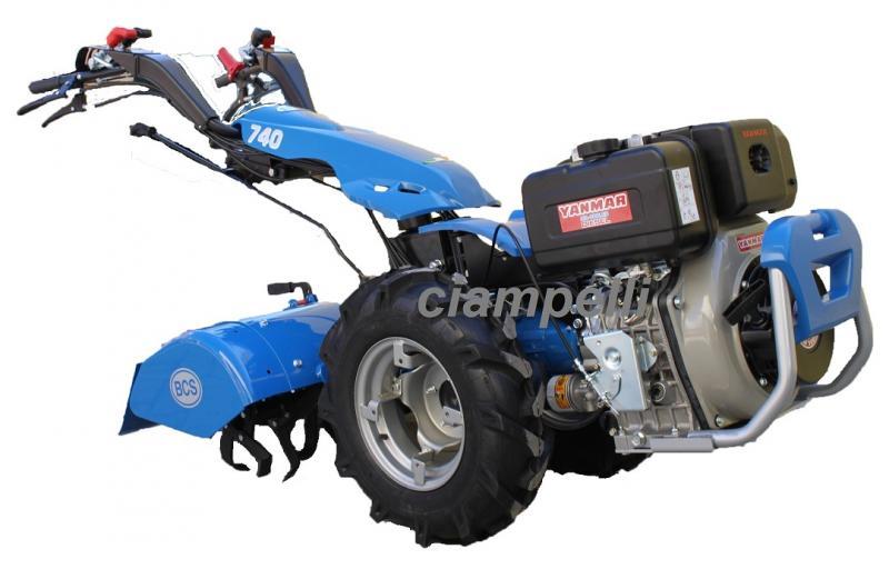 BCS 740 Two Wheel Tractor DIESEL YANMAR LN100 10 hp 80 cm Recoil Start