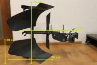 Aratro reversibile bcs voltaorecchio for Aratro per motocoltivatore goldoni